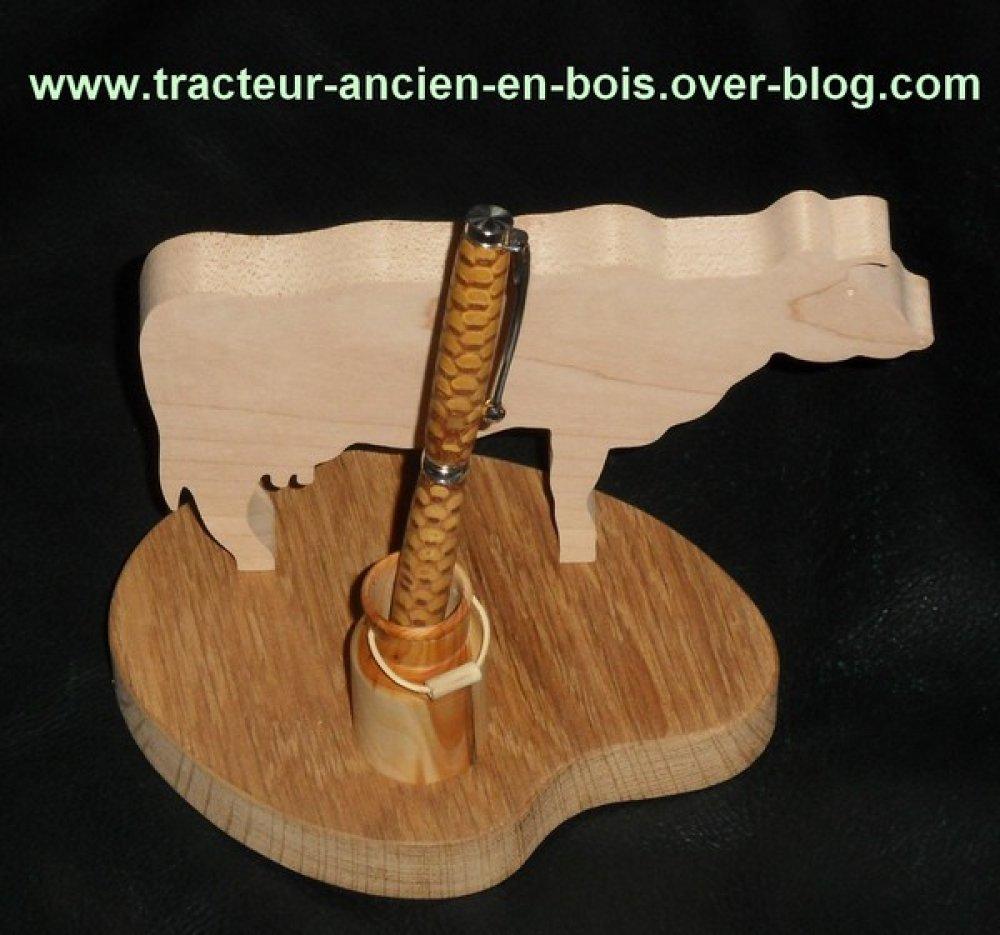 PORTE CRAYONS vache avec son bidon à lait