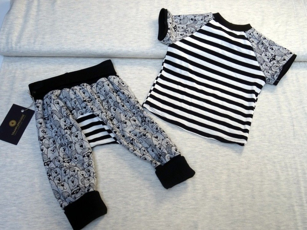 Ensemble T-shirt et sarouel évolutif bébé motif castor