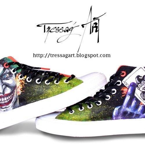 Custom shoes baskets converse joker 41 chaussures customisées joker