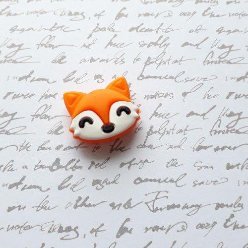 Perle silicone renard orange