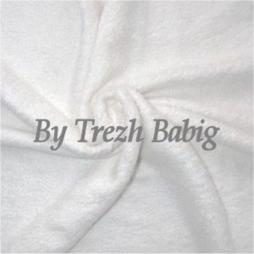 Tissu éponge bambou 50x150 cm blanc
