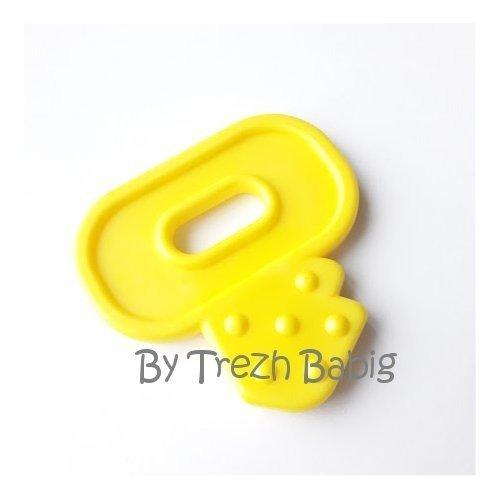 Anneau de dentition clé bébé mercerie jaune