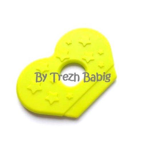 Anneau dentition bébé aile papillon vert
