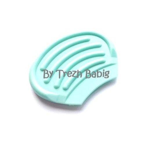 Anneau dentition bébé nageoire bleu ciel