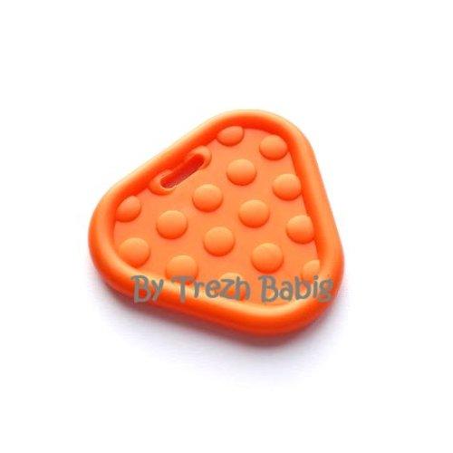 Anneau de dentition triangle bébé orange