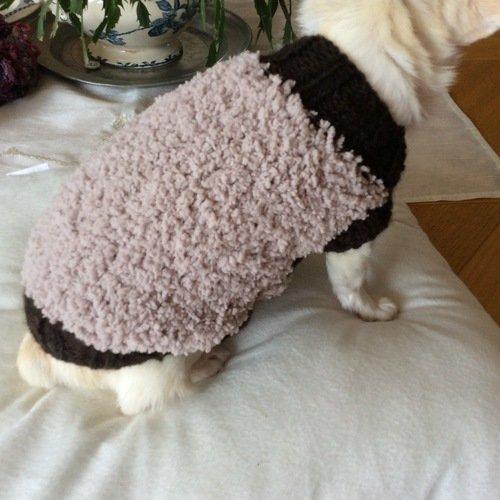 Manteau pull laine chien ou chat environ jusqu'a 2 kg
