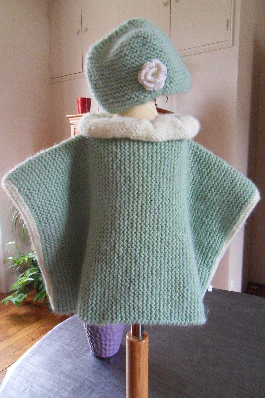 Poncho Avec Bonnet Pour Fille 18 24 Mois