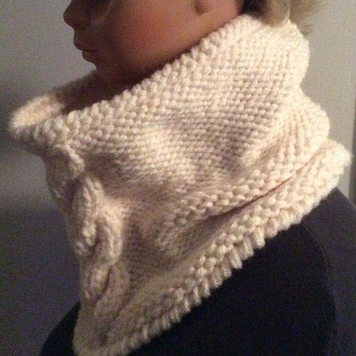 Chic et élégant  grand snud - cache col en tricot  pour femme