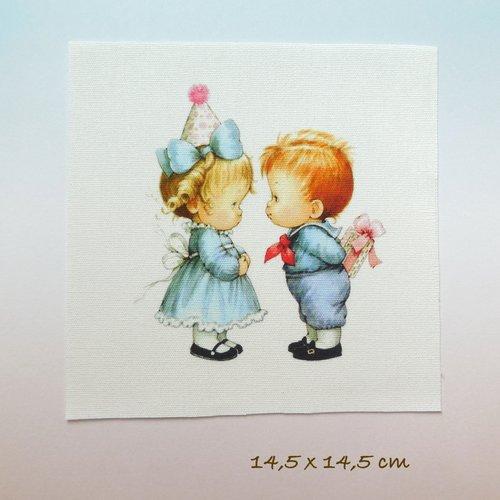 Appliqué vignette - motif enfants garçon fille anniversaire