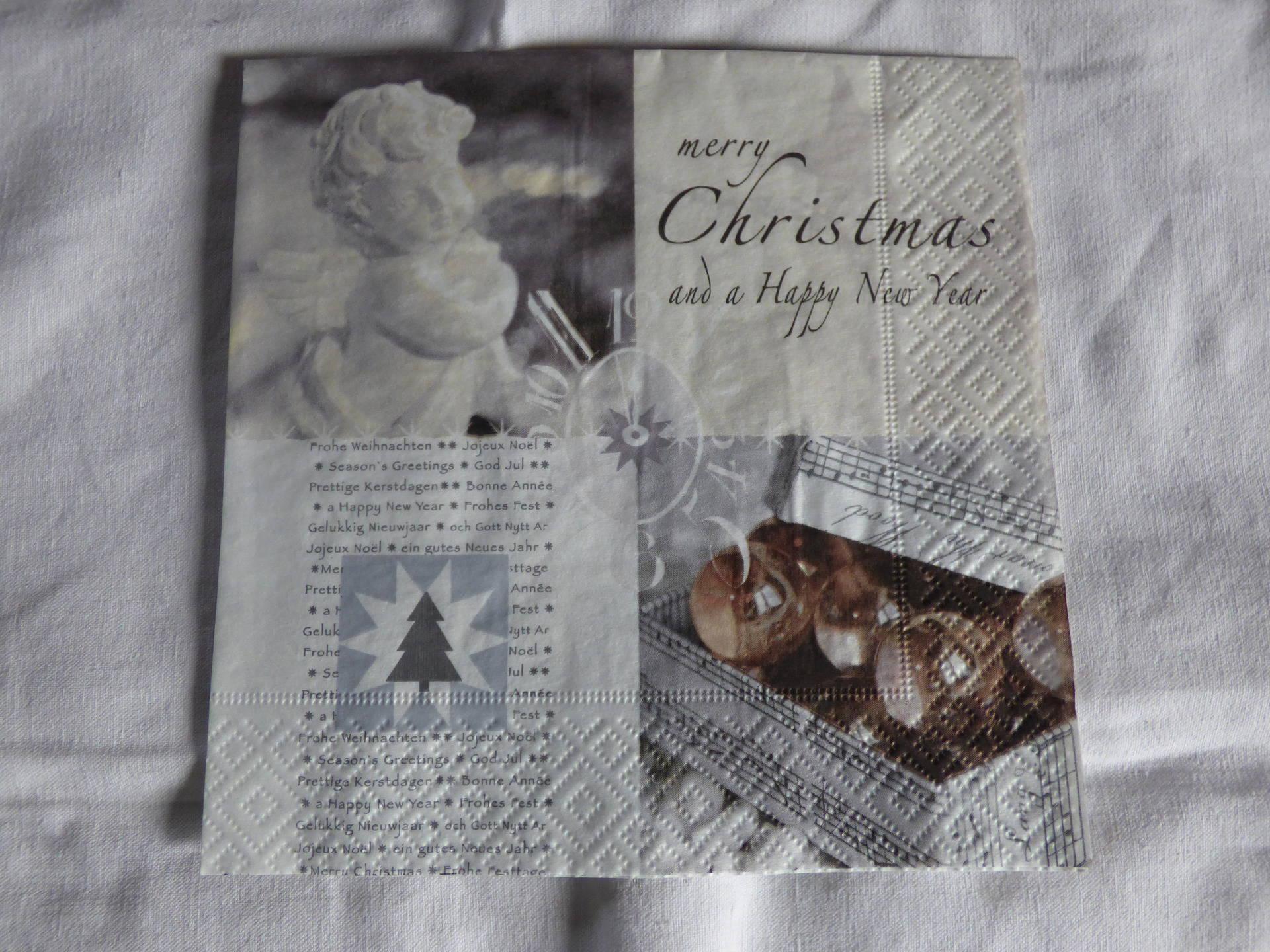 serviette en papier - fêtes de fin d'année