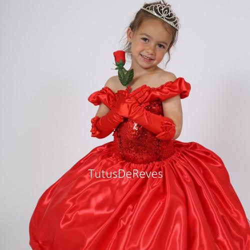 Robe De Princesse Enfant Mode Luxe Rouge Deguisement Elena D Avalor En Satin Et Tulle Souple Halloween Carnaval Anniversair Un Grand Marche