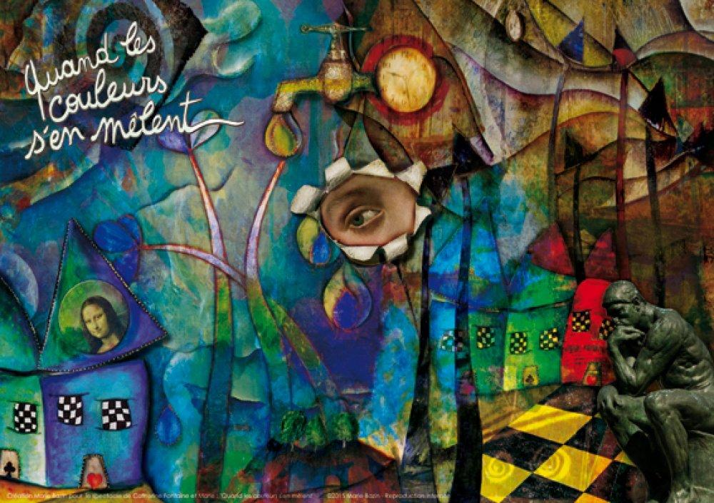 """SET OU SOUS-MAINS """"Quand les couleurs s'en mêlent"""", création Marie Bazin"""