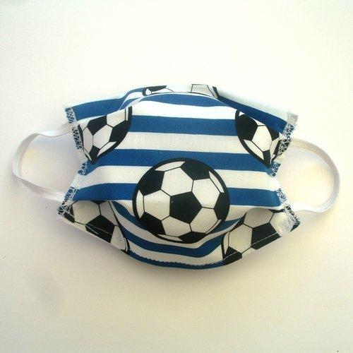 Masque de protection alternatif adulte foot bleu categorie 1