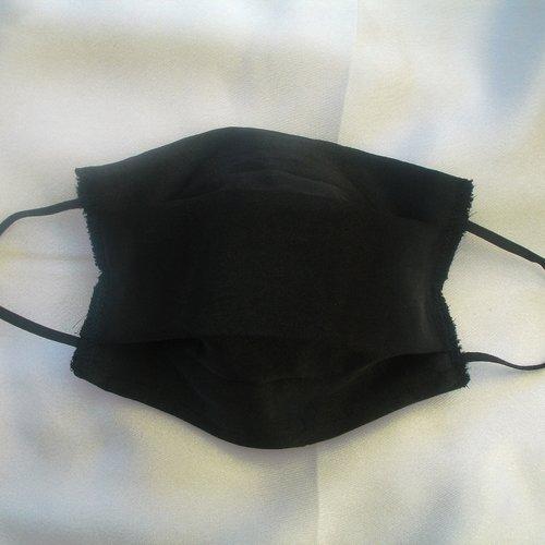 Masque de protection adulte satin de coton noir categorie 1