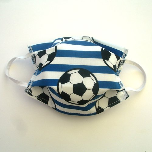 Masque de protection enfant foot bleu categorie 1