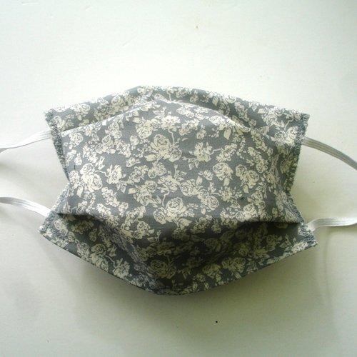 Masque de protection alternatif adulte roses blanches categorie 1