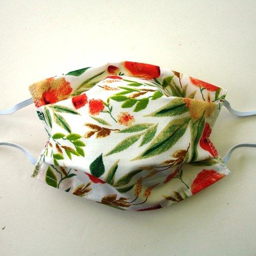 Masque de protection alternatif adulte fleurs printemps orange categorie 1