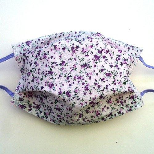 Masque de protection alternatif adulte violet fleurs categorie 1