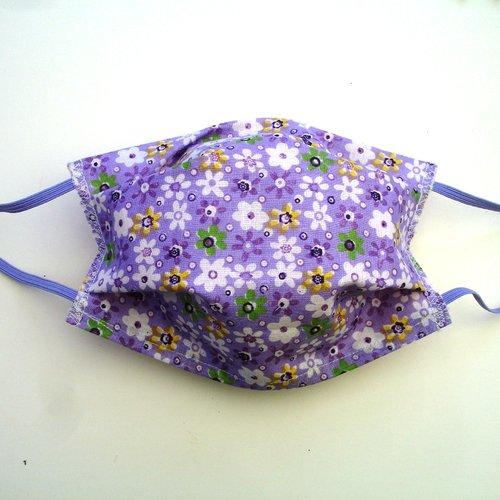 Masque de protection alternatif adulte violet multicolores categorie 1