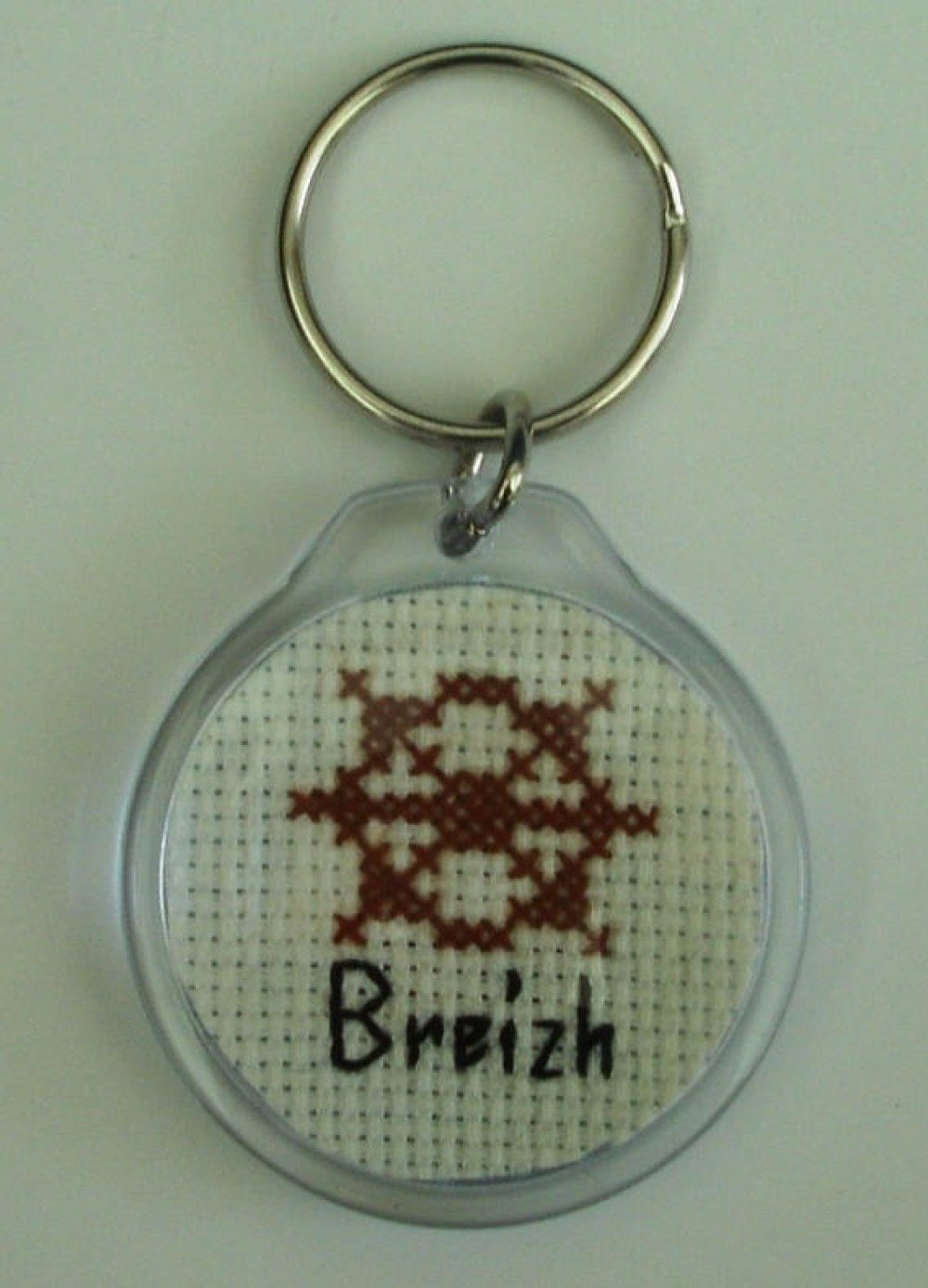 Porte-clés Gouvernail Breizh brodé main