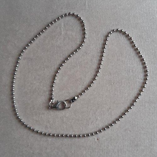 1 collier 40 cm billes 1,5 mm