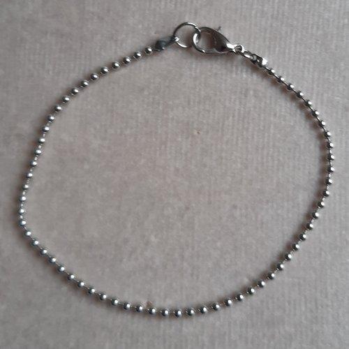 1 bracelet 20 cm billes 1,5 mm