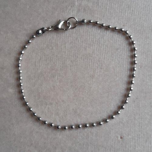 1 bracelet 20 cm billes 2 mm