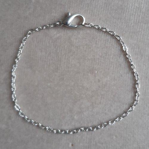1 bracelet 20 cm chaine striée