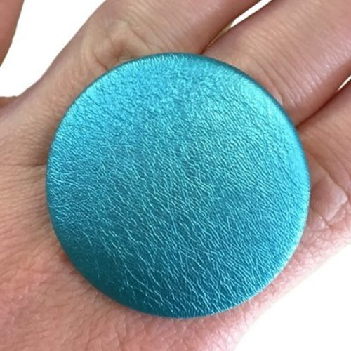 Bague bouton turquoise