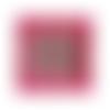 Objet décoratif rose et vert, cadre photo bois 13x18cm artisanal