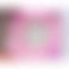 Cadre photo magnétique papillon rose