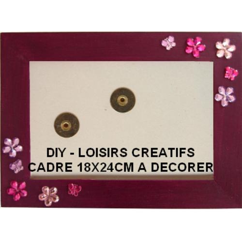 Kit loisirs créatifs enfant, cadre photo à décorer 18x24