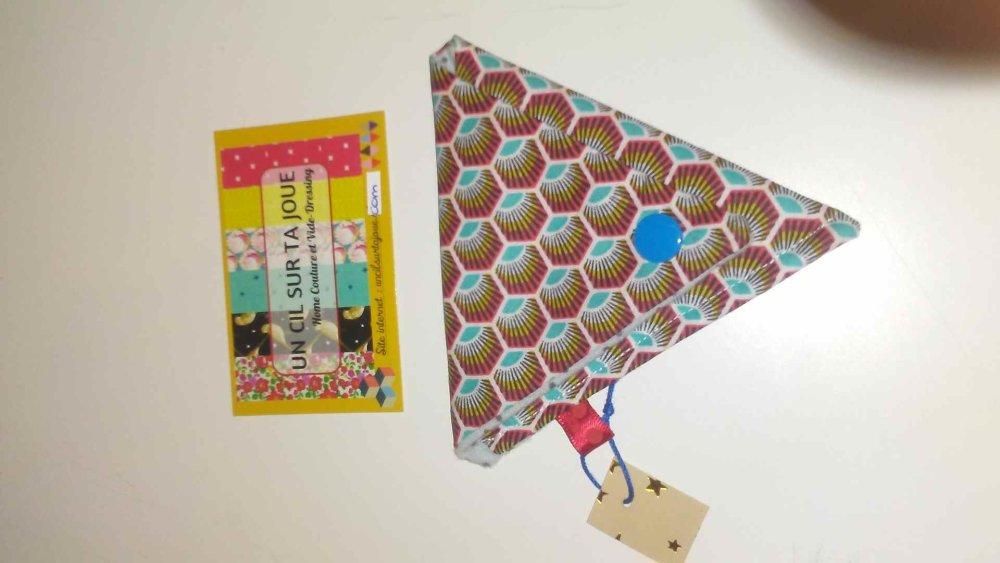 Porte-monnaie Origami japonais africain graphique carreaux ciment