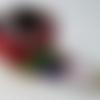 Ceinture tissus patchwork colorée liberty japonais et végétal pois