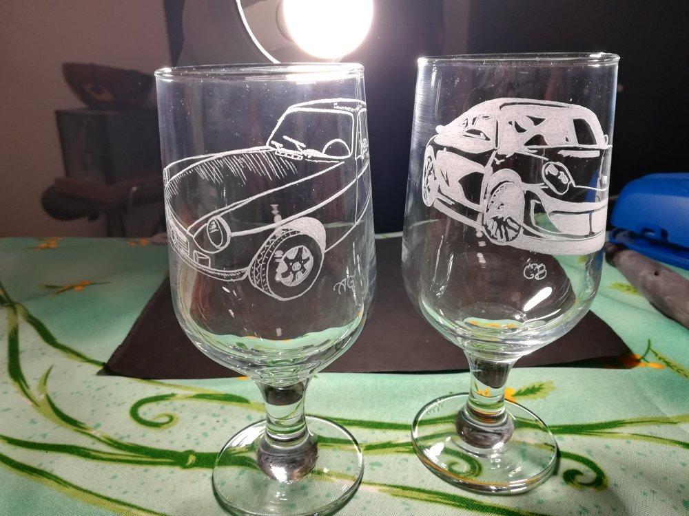 Duo verres à bière de 33 cl personnalisés - Gravure en cours