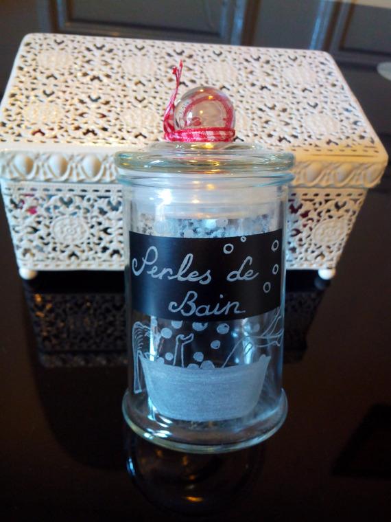 Pot en verre de 9 cm personnalisation offerte - Gravure d'une illustration, d'un texte et des bulles de savon