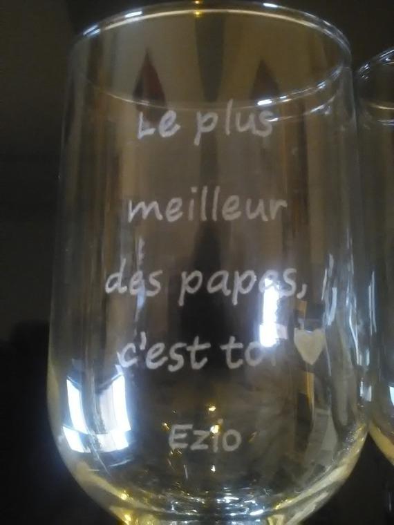 Duo de verres à bière de 38 cl personnalisation offerte - Gravure pour la fête des pères