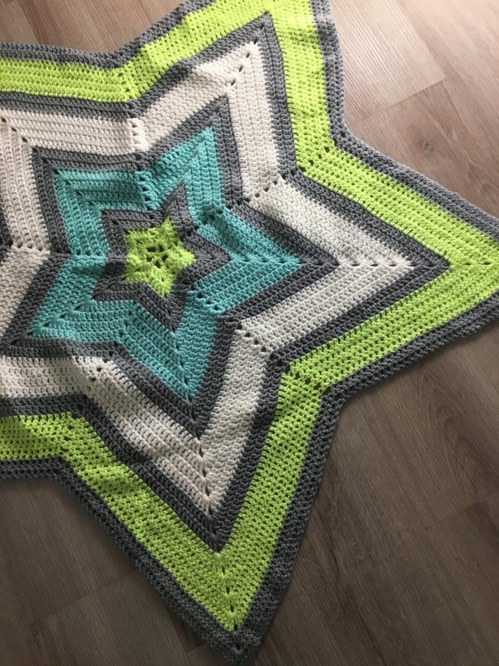 Couverture crochet étoile