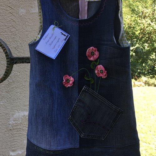 "Robe en jean""recyclé"" petite fille"
