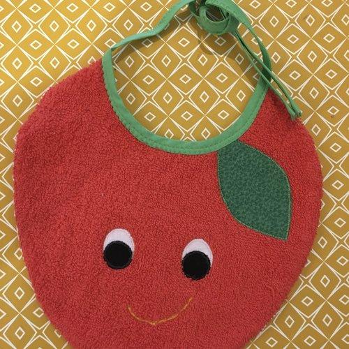 """Bavoir pour bébé """"pomme rouge"""""""