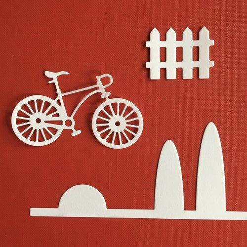 """Découpe papier """"ballade en vélo"""""""