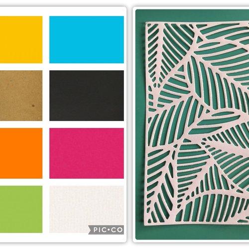 """Découpe en papier """"feuilles tropicales"""""""