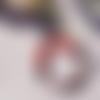 Bracelet élastique en perles heishis rouge, gris et noir