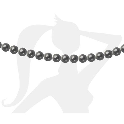 50 x perles rondes 4mm verre nacré - gris foncé