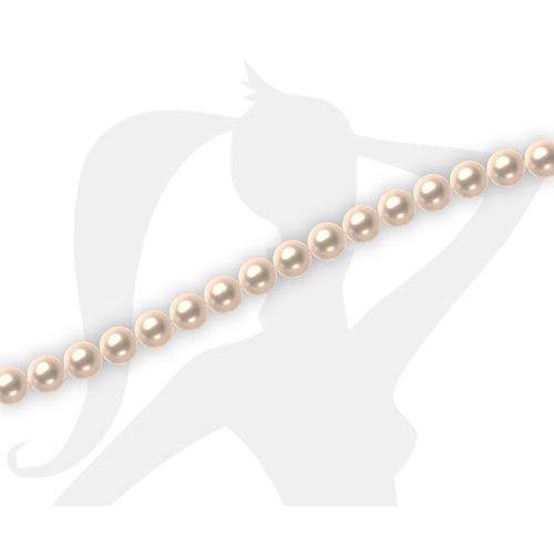50 x perles rondes 4mm verre nacré - nude - 137