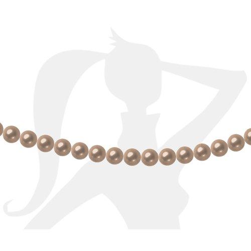 50 x perles rondes 4mm verre nacré - cappuccino - 193