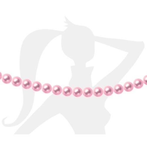 25 x perles rondes 6mm verre nacré - rose layette clair - 4401
