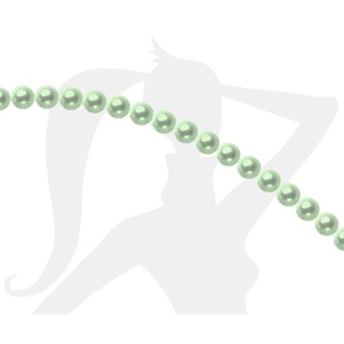 25 x perles rondes 6mm verre nacré - vert pâle - 063