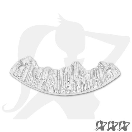 Connecteur montagnes - argenté clair - 39mm en métal brillant relief