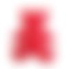 Applique ourson en feutrine rouge - 60 x 55 mm - écusson à coudre ours